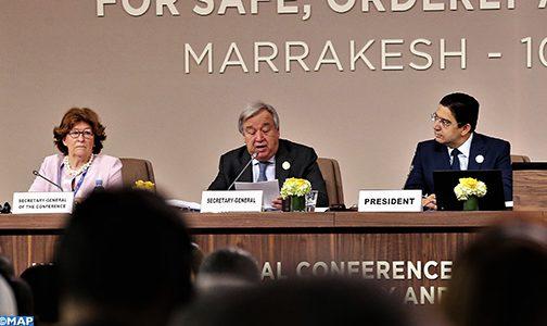 الأمين العام للأمم المتحدة يؤكد بمراكش أن ميثاق الهجرة يتبع نهجا سيمكن من مساعدة المهاجرين ومجتمعات الاستقبال على حد سواء