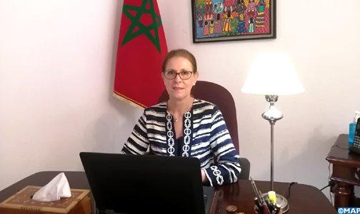 قيادة جلالة الملك عززت حس الوحدة والتضامن بين المغاربة في مواجهة جائحة كورونا (سفيرة)