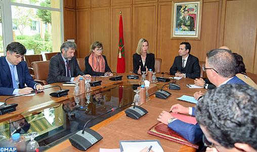M. Benchaaboun s'entretient avec la Haute représentante de l'UE pour les Affaires étrangères et la politique de sécurité