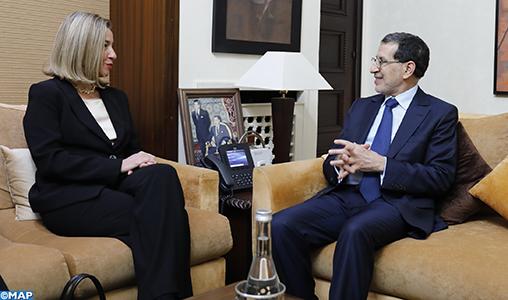 M. El Otmani et Mme Mogherini se félicitent des perspectives prometteuses du partenariat Maroc-UE